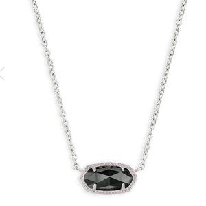 Kendra Scott Elisa Silver Necklace Black Opaque
